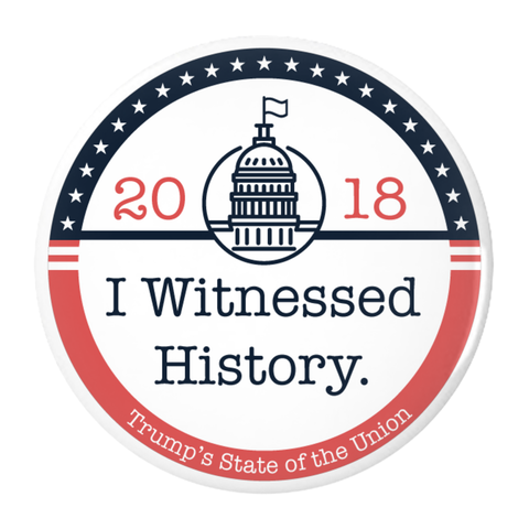 I Witnessed History - Pin-Back Buttons (USA)