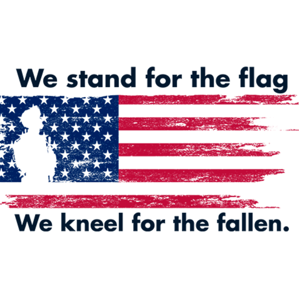 We Stand For The Flag Sticker Secure America Now
