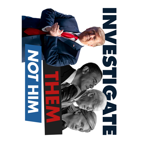 Investigate Them - Not Him - STICKER
