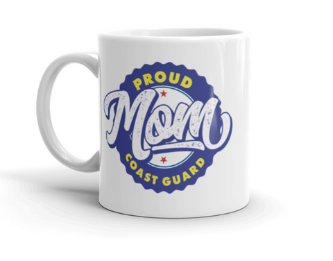 Proud Coast Guard Mom Mugs