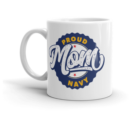 Proud Navy Mom Mugs