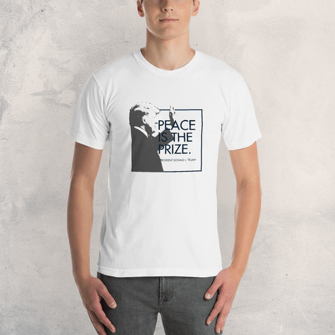 """Peace is the Prize"" - Men's Short Sleeve T-Shirt"