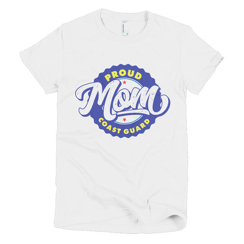 Proud Coast Guard Mom Short sleeve women's t-shirt