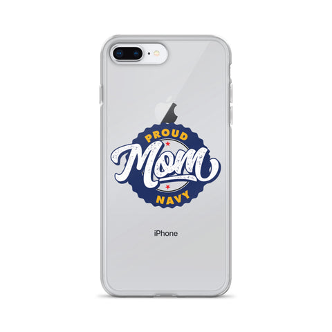 Proud Navy Mom iPhone Case