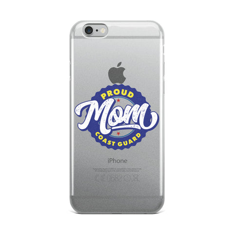 Proud Coast Guard Mom iPhone Case