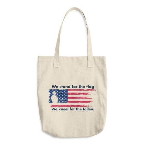 We Stand for the Flag - Cotton Tote Bag