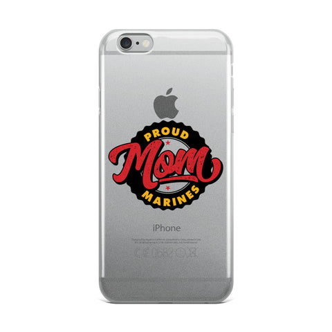 Proud Marine Mom iPhone Case