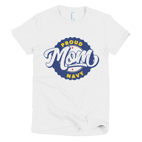 Proud Navy Mom Short sleeve women's t-shirt