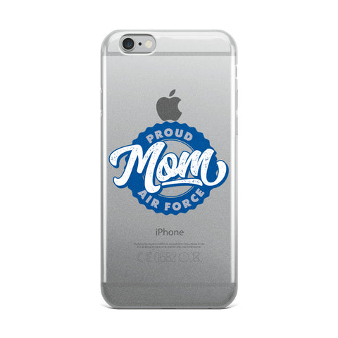 Proud Air Force Mom iPhone Case