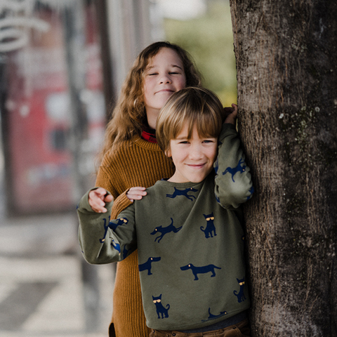 Kids are wearing comfortable clothes to less irritate the skin