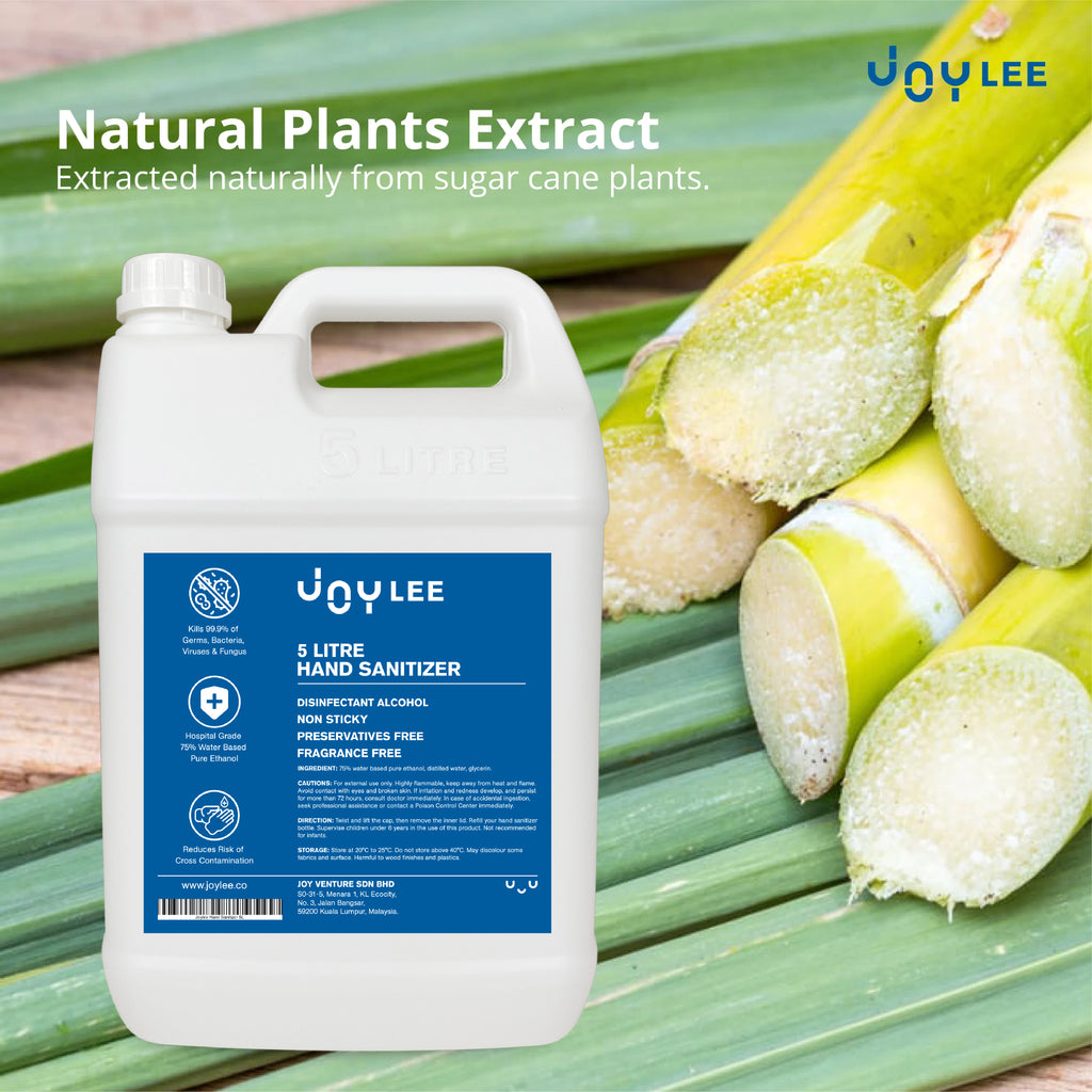 5l hand sanitizer natural sugar cane plant extract