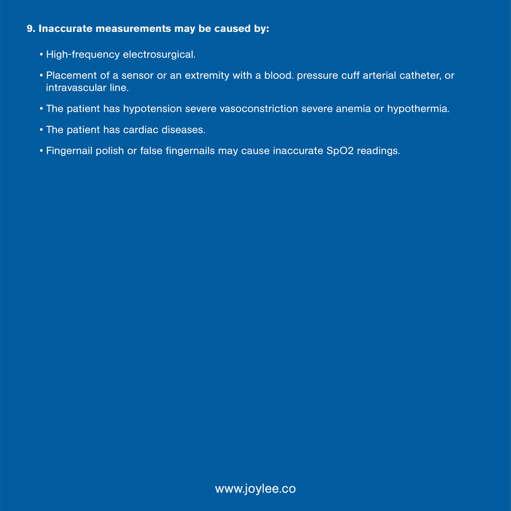 medical pulse oximeter guideline causes of inaccurate measurement