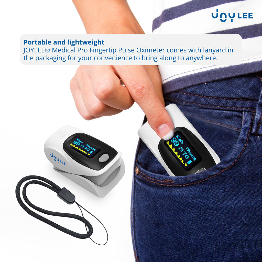 pulse oximeter is portable and lightweight