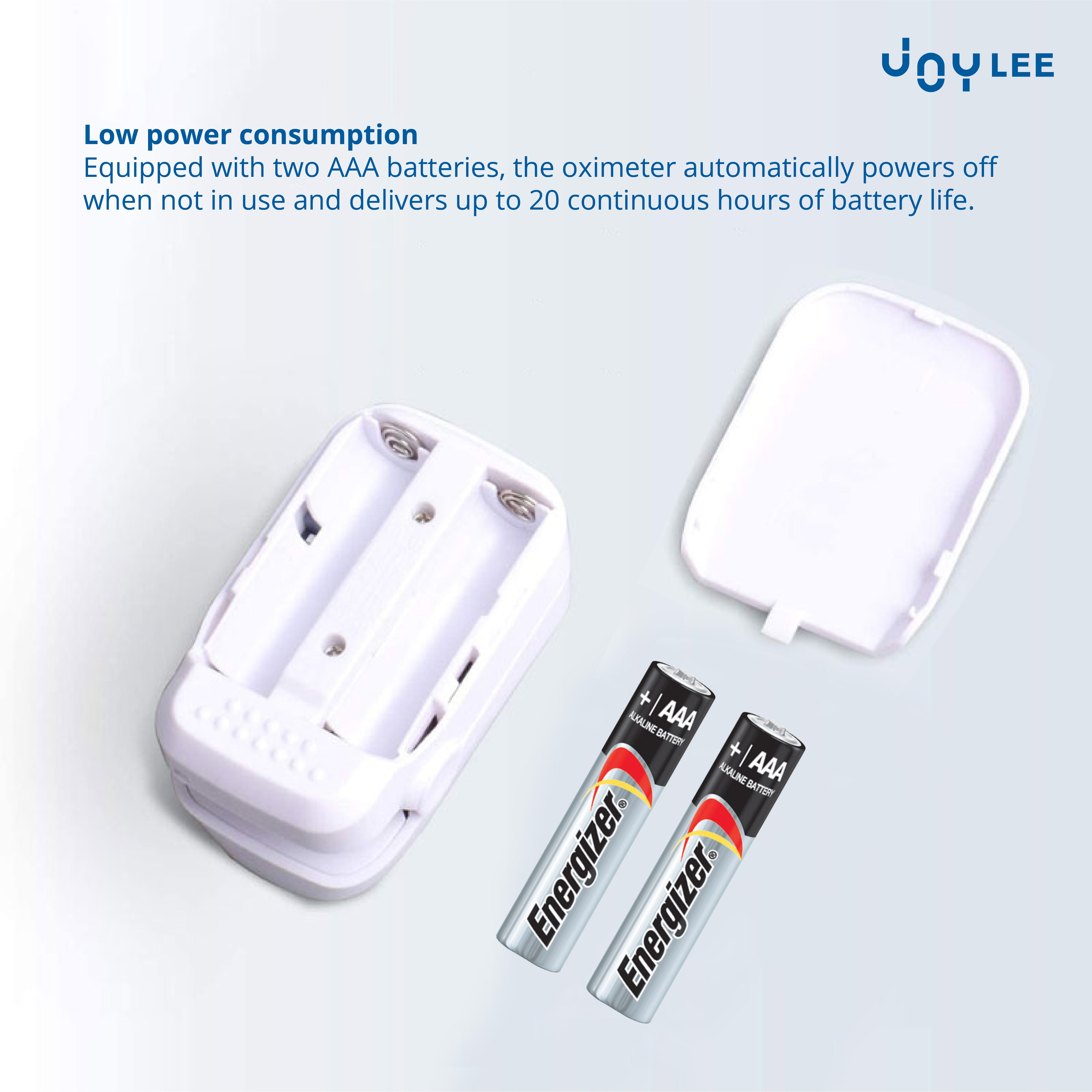 2 AAA battery compartment