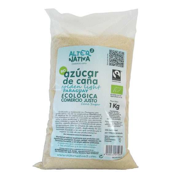 Azúcar de Caña Integral Golden Light Bio Fairtrade 1kg - Delicatessin