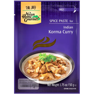 Pasta de Especias para Curry Indio Korma Asian Home Gourmet 50g