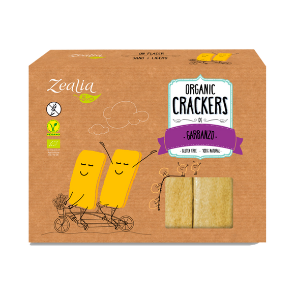 Crackers de Garbanzo Sin Gluten Bio 120g - Delicatessin