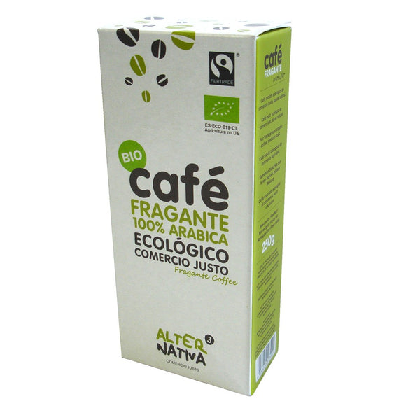 Café Fragante 100% Arábica Molido Bio Fairtrade Alternativa3 250g