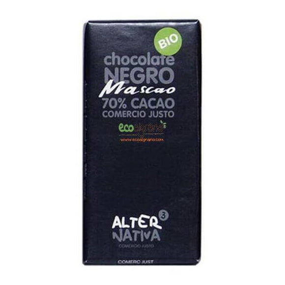 Chocolate Negro Mascao 70% Cacao Bio Fairtrade Alternativa3 80g
