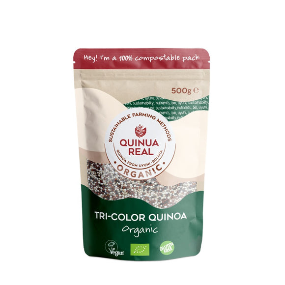 Grano de Quinoa Real Tricolor Bio Fairtrade 500g - Delicatessin