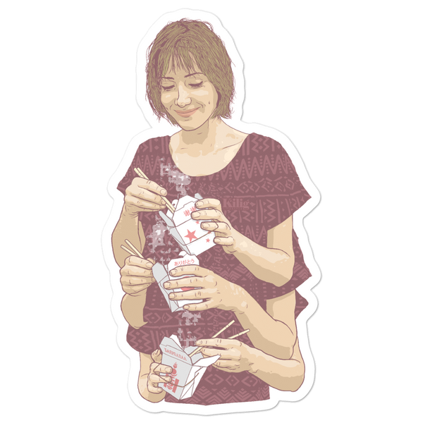 "Mukbang 5"" Sticker"
