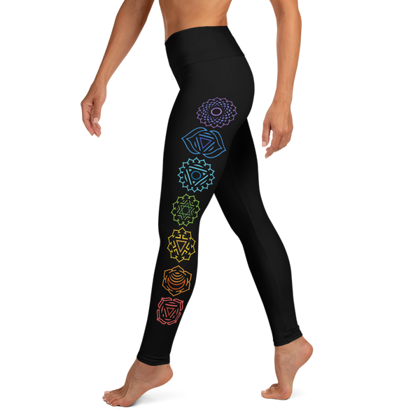 Chakra Black Yoga Leggings