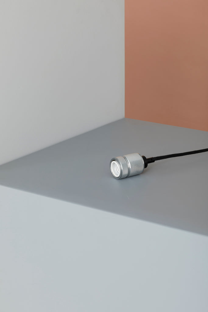 Silver Metallic Light Socket