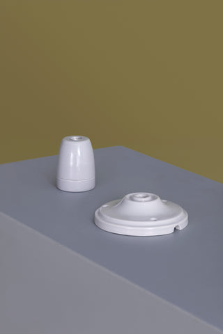 Colored Ceramic Ceiling Rose and Light Socket