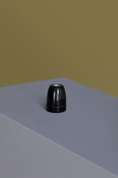 Black Ceramic Light Socket
