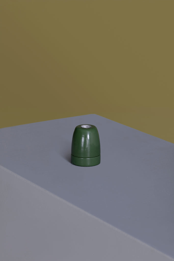 Green Ceramic Light Socket