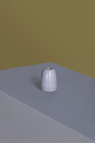 Grey Ceramic Light Socket