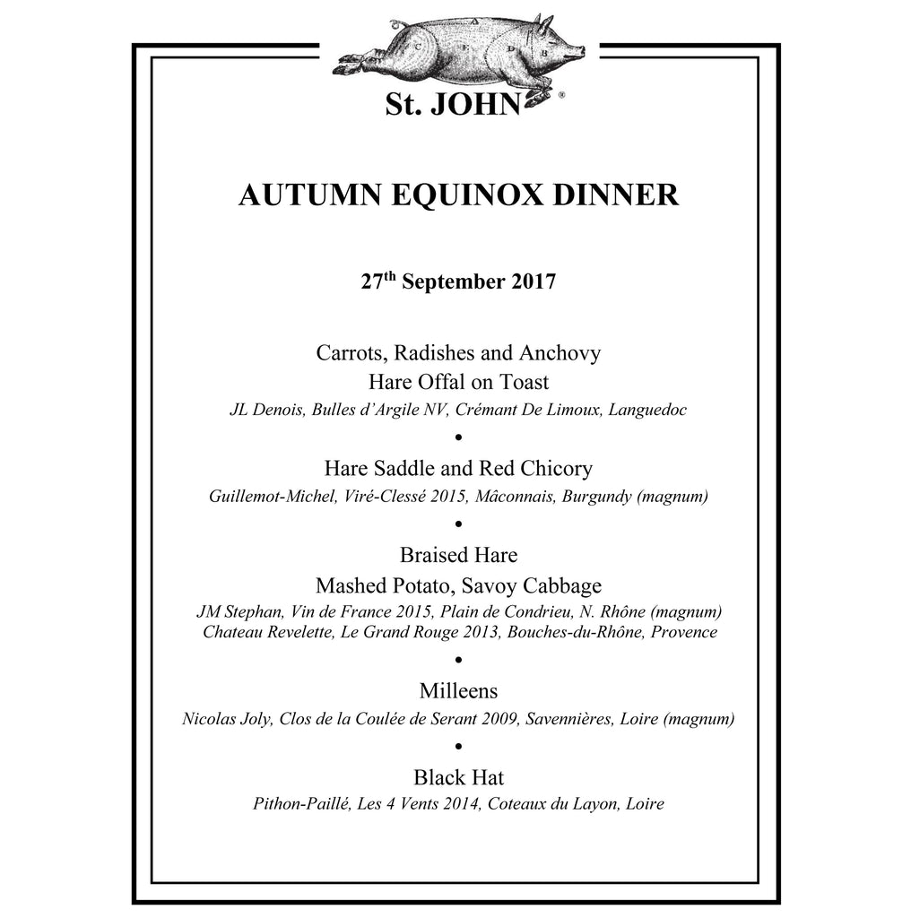The Autumn Equinox Dinner