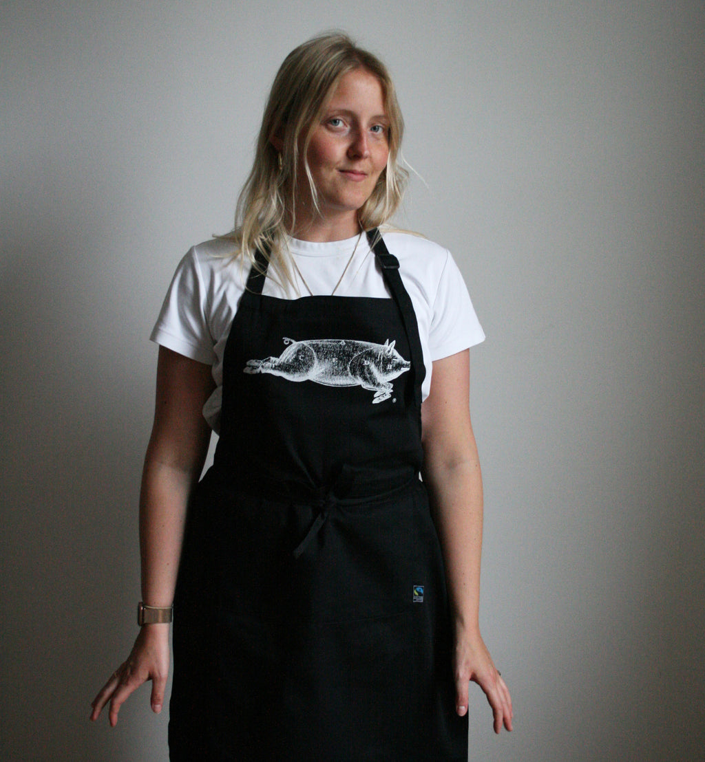 Pig Apron in Black