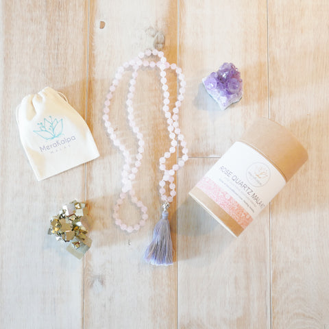 rose quartz mala kit