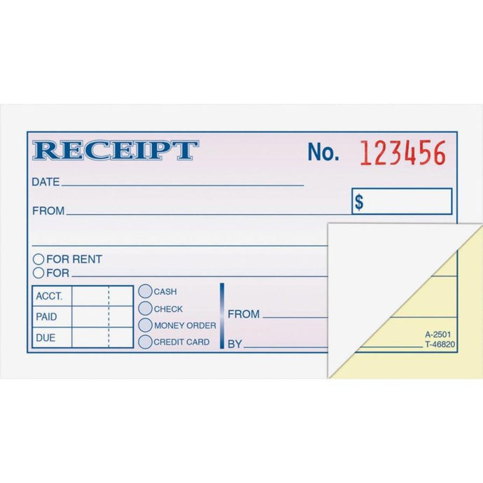 DC2501 Money & Rent Receipt Book