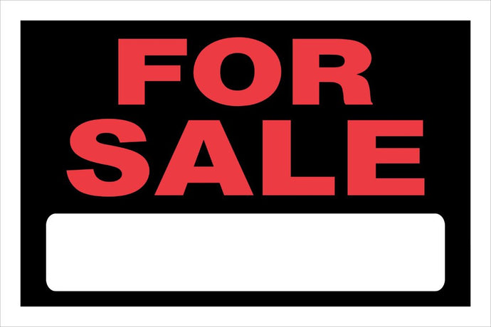 For Sale 8 x 12 PVC Sign