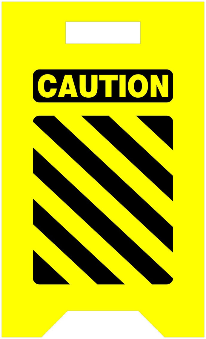 Caution 12 x 20 Yellow Tent Sign