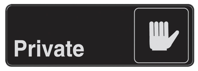 Private 3 X 9 Self Adhesive Sign