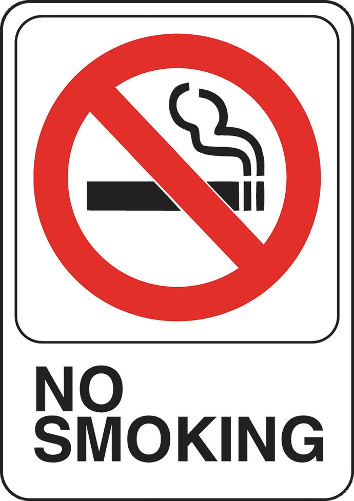 No Smoking 5 X 7 Self Adhesive Sign