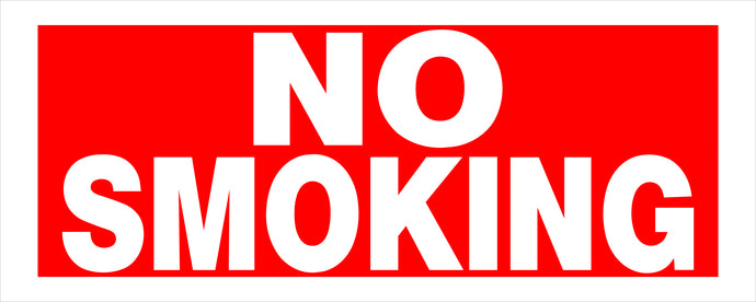No Smoking 6 X 15 HD Plastic Sign