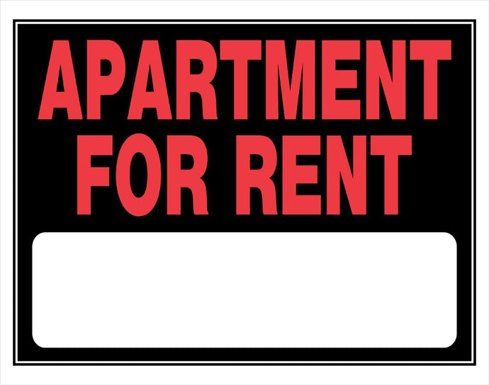 Apartment For Rent 15 x 19 PVC Sign