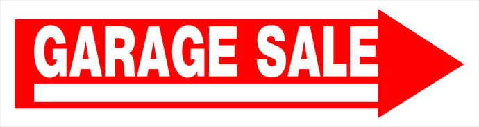 Garage Sale 6 x 24 Corrugated PVC Sign