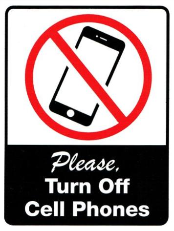 Turn Off Cell Phones Sticker
