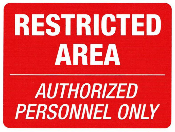 Restricted Area Authorized Personnel Sticker