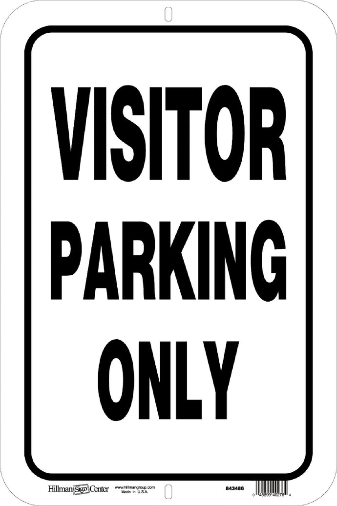 Visitor Parking Only 12 x 18 Aluminum Sign