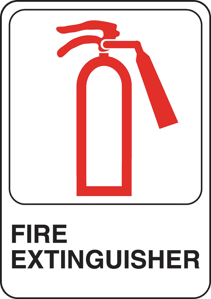 Fire Extinguisher 5 X 7 Self Adhesive Sign