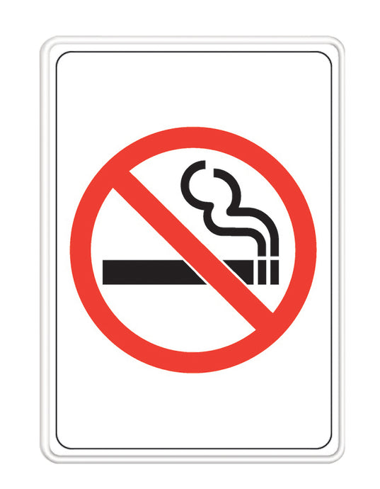 No Smoking Symbol Only 5 X 7 Self Adhesive Sign