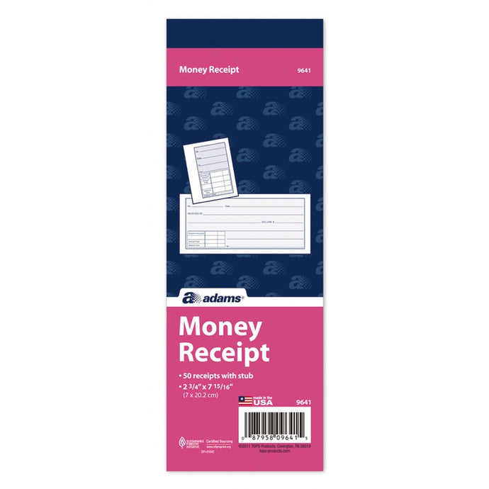 9641 Money Receipt Book