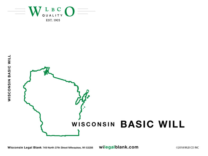 Wisconsin Basic Will