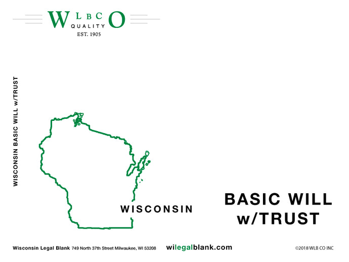 Wisconsin Basic Will with Trust